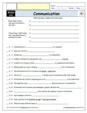 FREE worksheet for the Bill Nye - The Science Guy * - Communication Episode Free Worksheet / Video Guide