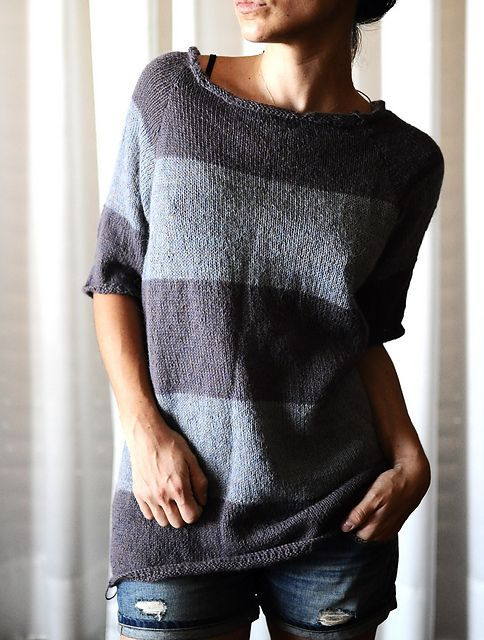 Ravelry: rililie's Relaxed Alpaga. I want to make this my first sweater knitting project!