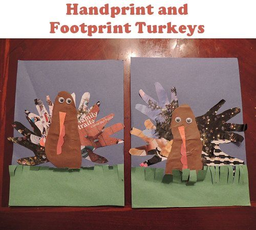 Handprint Turkeys | Naturally EducationalHands Prints, Fall Art, Crafts Ideas, Children Crafts, Halloween Thanksgiving, Handprint Turkey, Magazines, Hand Prints, Education Crafts