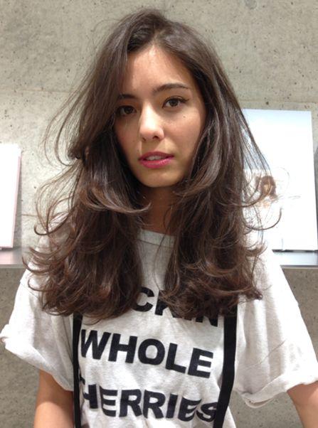 asian brown hair