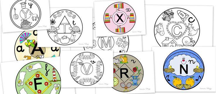 Mandalas con las letras del abecedario