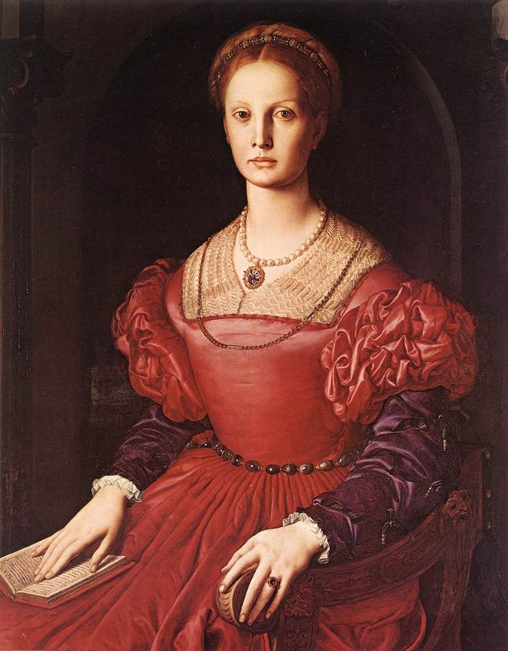 Bronzino, Portrait of Lucrezia Panciatichi. Maybe too sophisticated but _that_ look in her eyes...very close to my idea of Kate Somerville.