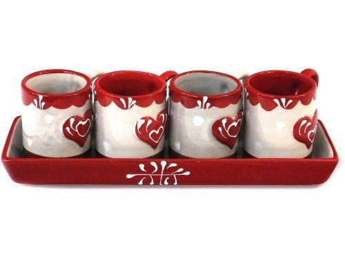 Set 4 tasses à café alpaga - en magasin et en boutique - 17 € #coffee #cups