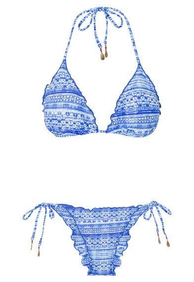 SALINAS - Biquíni cortininha Dakar - azul - OQVestir