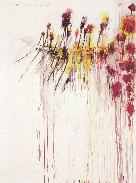 Coronation of Sesostris 2000  Cy Twombly  You made me pick up a paint brush and have a go. RIP x