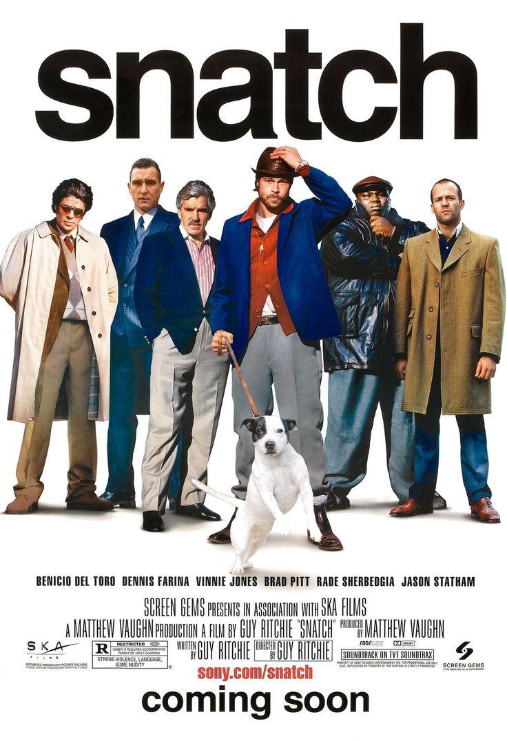 .Movie Posters, Guys Ritchie, Cinema, Snatch 2000, Book, Brad Pitt, Favorite Movie, Jason Statham, Favorite Film