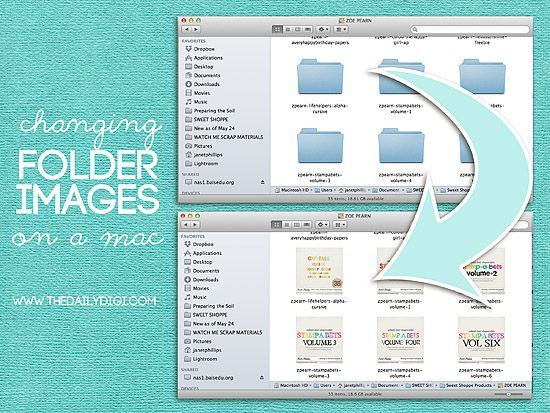 how to put photos in a folder on mac