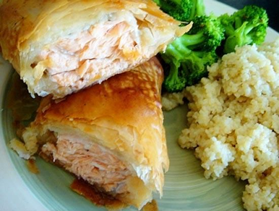 how to make salmon pastry puff