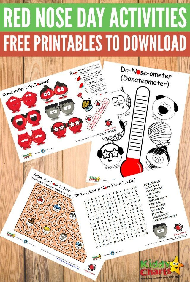 Red Nose Day Activities Free Printables for Comic Relief