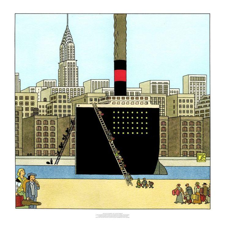 Joost Swarte - MS Ellis Island - Griffioen Grafiek