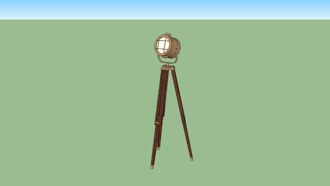Large preview of 3D Model of studio spotlight - tripod floor lamp