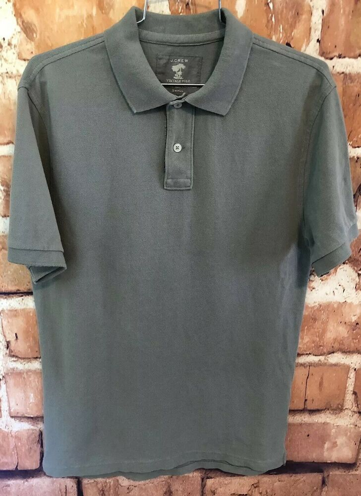 a8d56f4e J Crew Vintage Polo Short Sleeve Mens Cotton Pique Olive Green Size Small  #fashion #