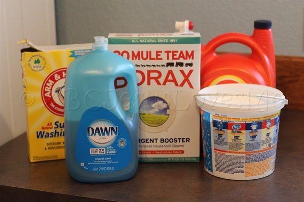 Homemade No Heating Required Liquid Laundry Detergent Recipe