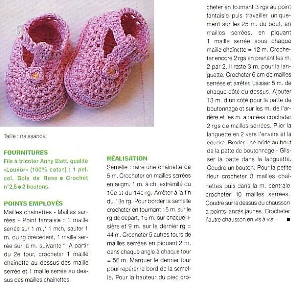 [Crochet] Les chaussons roses - La Boutique du Tricot et des Loisirs Créatifs