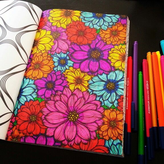 Het Tweede Enige Echte Kleurboek Voor Volwassenen Bloemen