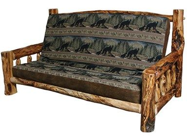 Shop For Rustic Log Futon (Queen) In Gnarly Log, FUTO QU . Log FurnitureCountry  FurnitureFurniture ...