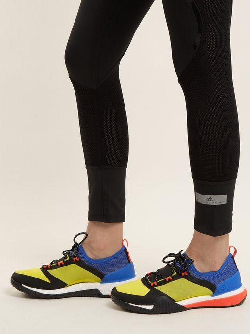 ff98d17d9cf29 Adidas By Stella McCartney Pureboost TR3.0 contrast-panel trainers ...