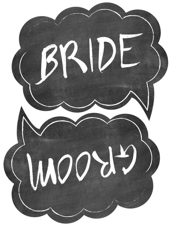 Wedding photo booth props free printable templates