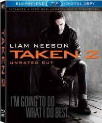 2012 - Taken 2 [Blu-ray]  - In Istanbul, retired CIA operative Bryan Mills and his wife are taken hostage by the father of a kidnapper Mills killed while rescuing his daughter. Own it >>  http://most-popular-movies.com/action-adventure/taken-2-bluray-bluray-com/