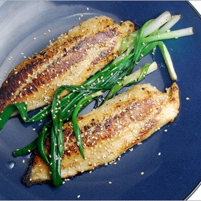 Tilapia with Miso and Scallions