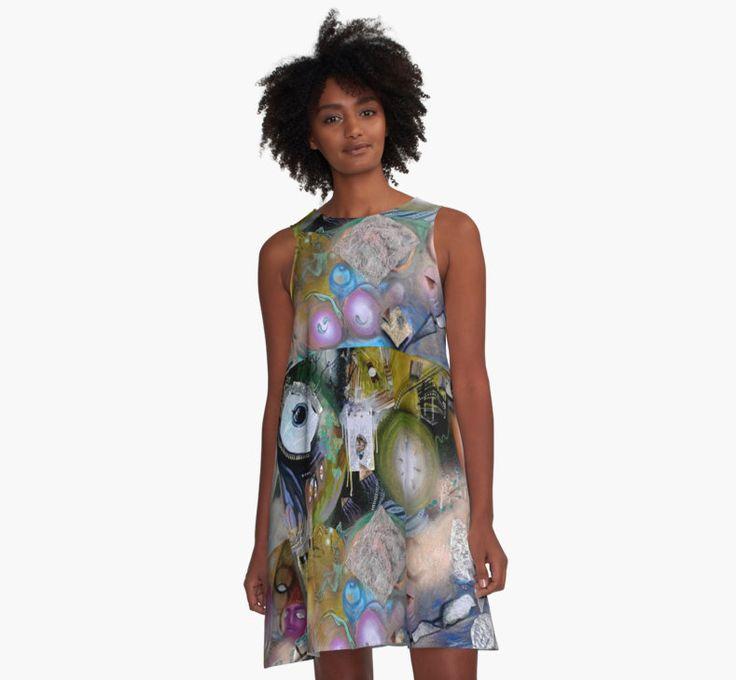 'Unhinged Society' A-Line #Dress for $65  #DavidBowie #CherieRoeDirksen #art