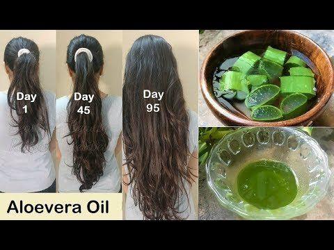Homemade Aloevera Hair Oil for Double Hair Growth - Aloevera Gel to get Long hair, No Hair Fall