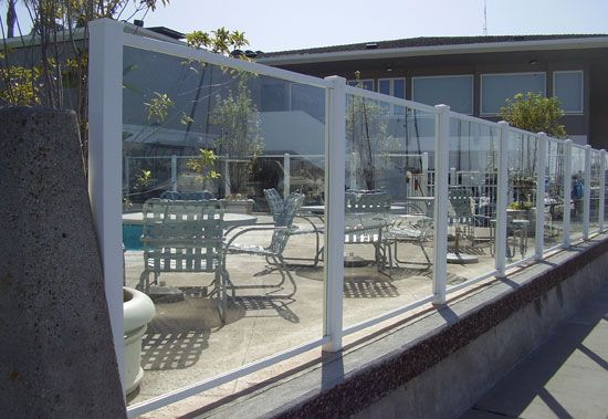 Great fence idea for around the pool, so we can still enjoy the rest of the property