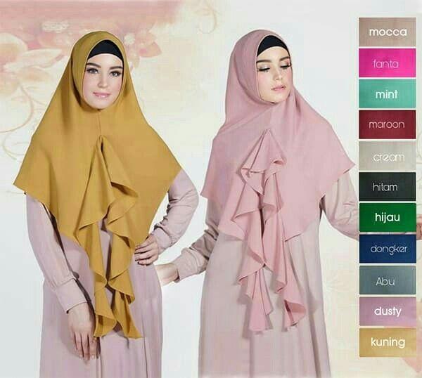 Hijab/Jilbab Khimar Sheeva Jilbab instant dengan soft pad antem dan variasirumbaiibagian depan jilbab dari dada hingga ujung bawah jilbab. Menggunakan material wollycrepe yang ringan namun tidak menerawang. Ket : panjang sesuai gambar Bahan : wollycrepe, rp. 49rb  Informasi dan pemesanan hubungi kami SMS/WA +628129936504 atau www.ummigallery.com  Happy shopping   #jilbab #jilbabbaru #jilbabpesta #jilbabmodern #jilbabsyari #jilbabmurah #jilbabonline #hijab #Kerudung #jilbabinstan #Khimar…