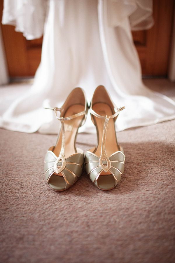 1940s vintage inspired wedding shoes by Rachel Simpson.  From 'Lead and Thread ~ An Urban Meets Vintage Inspired London Wedding' on www.lovemydress.net.    http://www.tompowellweddingphoto.com/