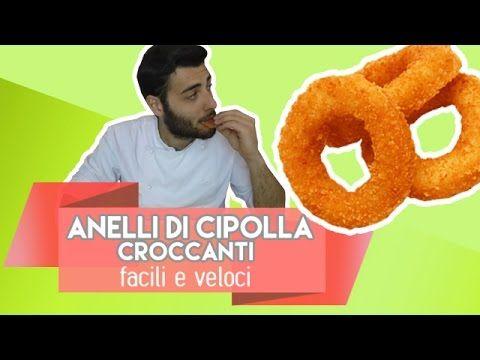 Anelli di cipolla croccanti facili e veloci - Onion rings - YouTube