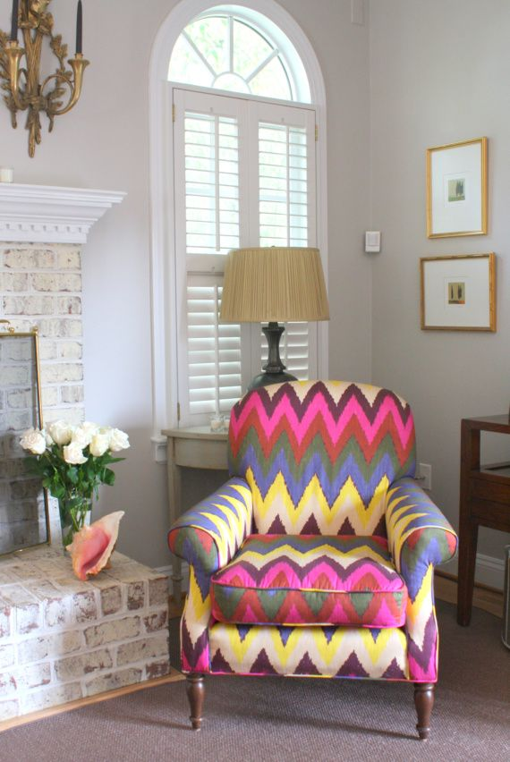 Home Tours Blog. Colorful ChairsColorful ... - 25+ Best Ideas About Patterned Chair On Pinterest Blue Living