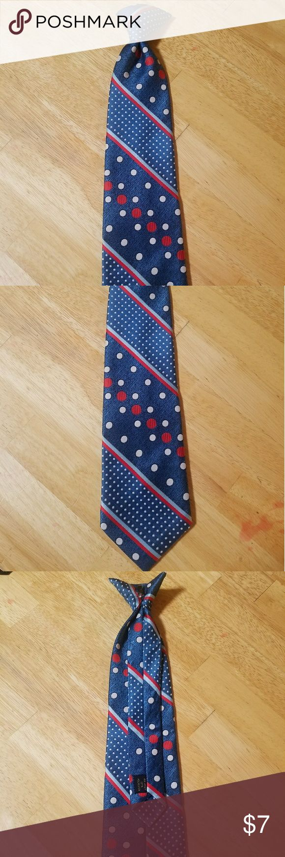 Beautiful blue and red clip on tie Blue and red clip on tie.   Bundle for discount and save on shipping Accessories Ties