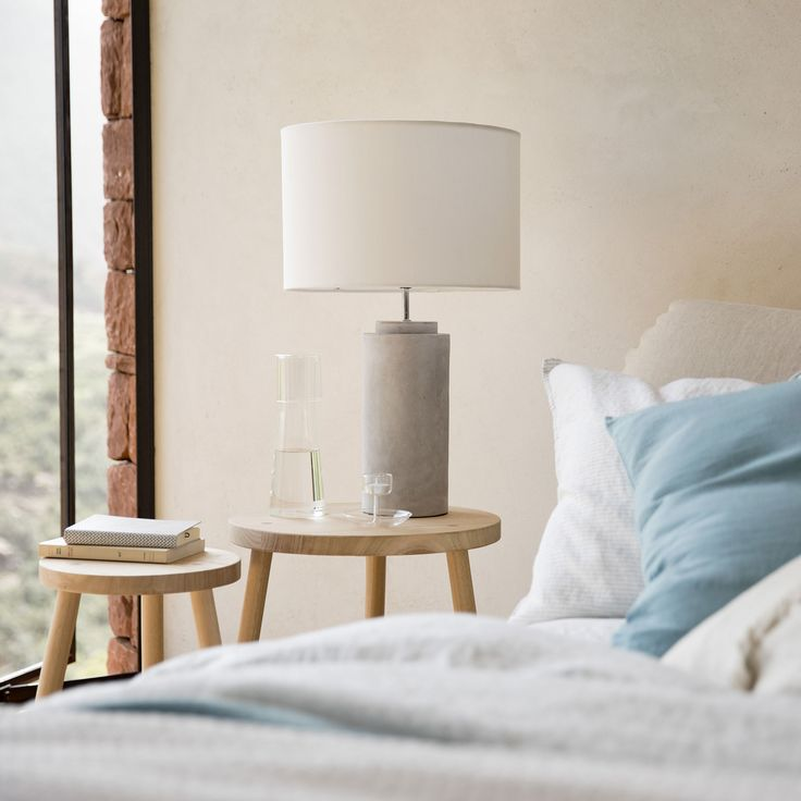 Lamp with a cement base - LAMPS - DECORATION | Zara Home United Kingdom