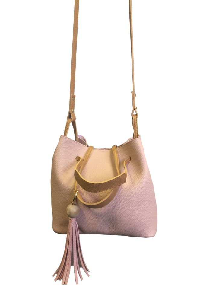 Beautiful Hem&Edge bag - Bucket bag with dual carry handle #blush 100% synthetic 22h(+46 long handle)x25wx18d(at base)cm #springsummer #bag #accessories #onebutton #hemandedge Click to see more products from the One Button shop.