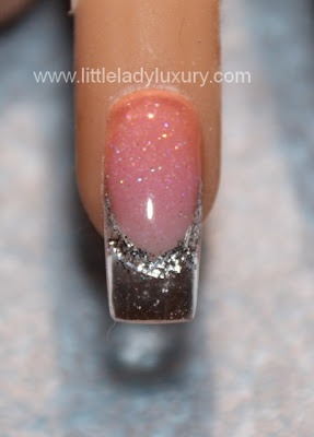 Little Lady Luxury: Clear and Silver Sculptured Nail