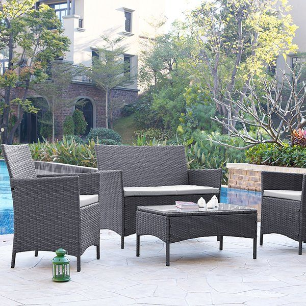 You'll love the Alfred 4 Seater Sofa Set at Wayfair.co.uk - Great Deals on all Outdoor products with Free Shipping on most stuff, even the big stuff.
