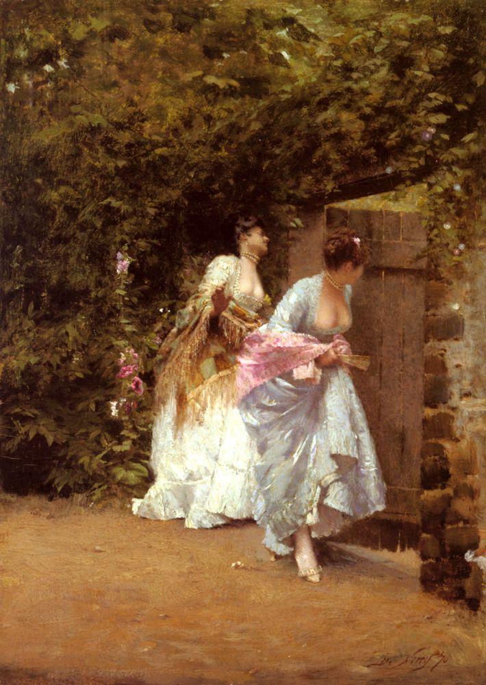 Giuseppe de Nittis - Back From Dance, 1870, oil on panel