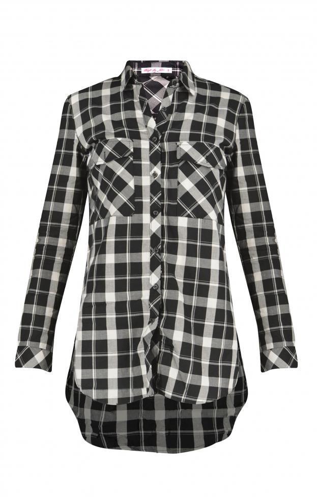 Γυναικείο πουκάμισο καρό POUK-1639-wh Γυναίκα-Μπλούζες και πουκάμισα