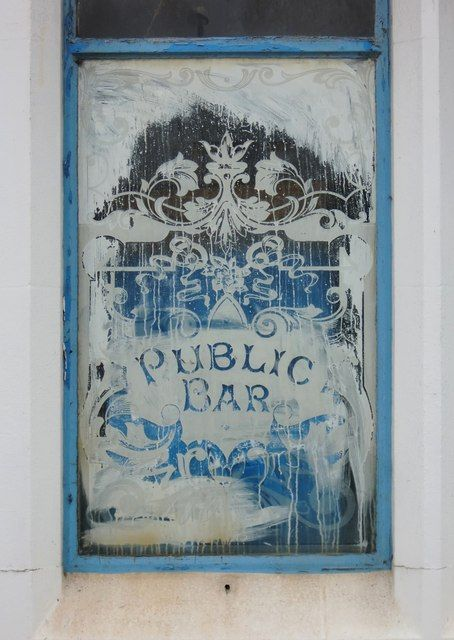 Faux Etched Glass Pub
