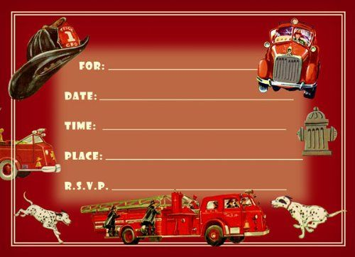 49 best images about Firefighter Birthday Party – Firefighter Party Invitations