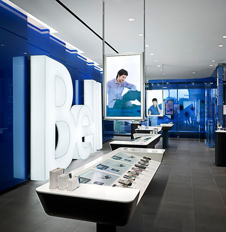 Pending Ads, Bell by Burdfifilek, Toronto (A.R.E Awards) store design ,