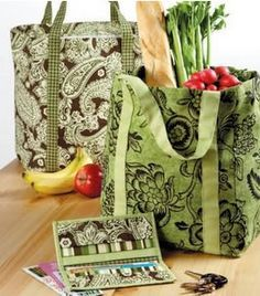 Free Tote Bag Patterns for Reusable Grocery Bags                                                                                                                                                                                 More