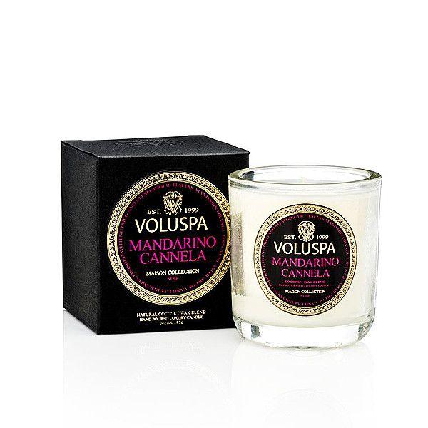 Mandarino Cannela Voluspa клмпактная свеча в стекле