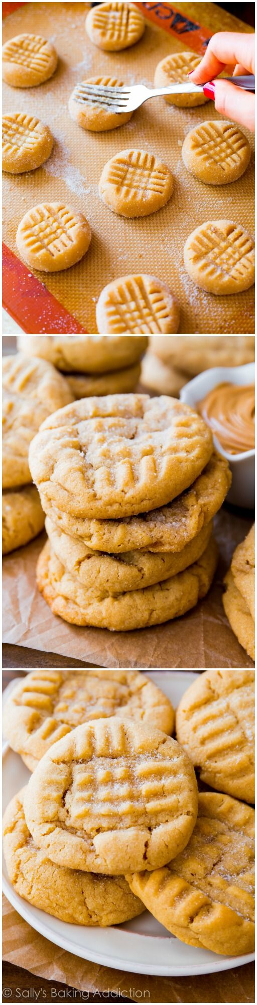 These classic peanut butter cookies are always a hit. Super chewy and they stay soft for DAYS! If they last that long.
