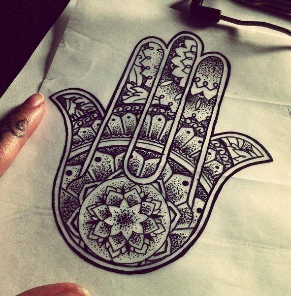 Hamsa tattoo on rib cage tattoos and piercings for Hand of fatima tattoo