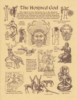 The Horned God Parchment Poster -The Old Ways Witchcraft Shoppe | The Old Ways Witchcraft & Pagan Shop