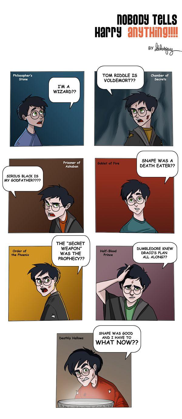 Nobody tells Harry anything.