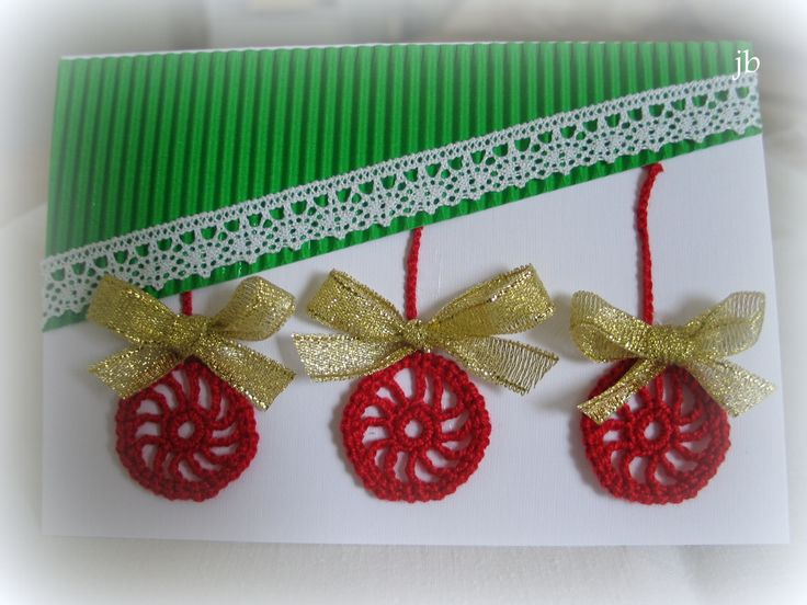 christmas card with crochet