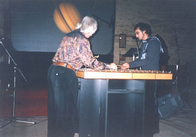 """Robin Armstrong and Michael Moon playing """"Saturn"""" at the Music Gallery"""