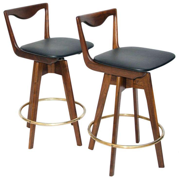 pair of mid century danish style bar stools danish stylemodern